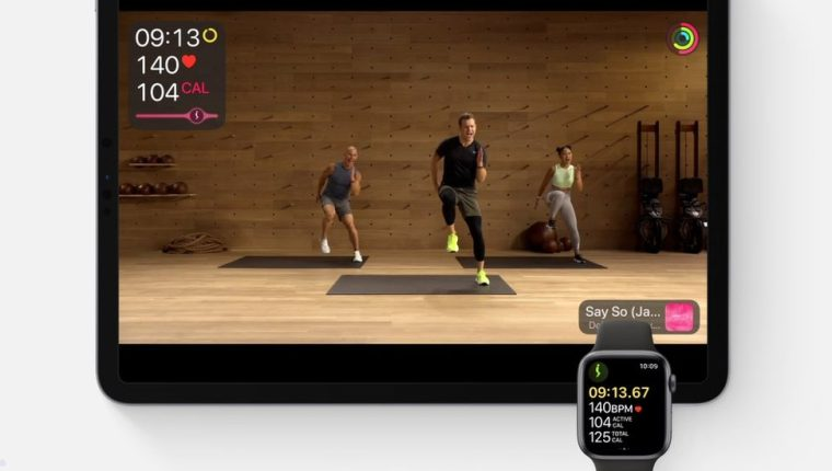 El servicio Fitness+ se puede ver en un iPhone, iPad o mediante un decodificador de Apple TV