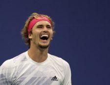 Alexander Zverev  avanzó a la final de US Open, después de superar a Pablo Carreno, de España. (Foto Prensa Libre: AFP).