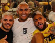 Icardi, Keylor y Neymar de vacaciones en Ibiza.