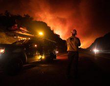Uno de los incendios que afecta California, este fue en Shaver Lake (Foto Prensa Libre: EFE)