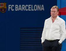 Entrenador del FC Barcelona, Ronald Koeman. (Foto Prensa Libre: EFE)