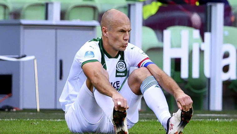 Arjen Robben volvió a jugar ene l partido del Groningen contra el PSV  en el partido del futbol de Holanda. (Foto Prensa Libre: EFE).