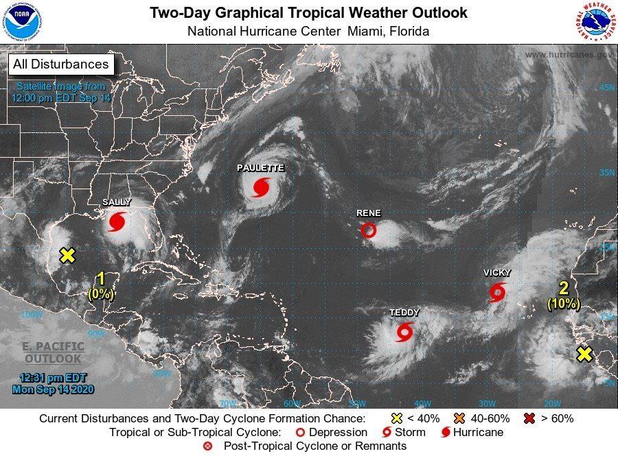 Huracanes, tormentas y depresiones tropicales se congestionan en el Atlántico