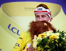 Tadej Pogacar está viviendo un momento histórico en el Tour de Francia. (Foto Prensa Libre: EFE)