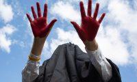 -FOTODELDÍA-SEÚL, 25/09/2020.- Un activista participa en una protesta contra el cambio climático en Seúl, Corea del Sur, el 25 de septiembre de 2020. EFE/EPA/JEON HEON-KYUN