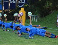 Los jugadores de la Selección de Guatemala trabajaron este lunes en el CAR. (Foto Prensa Libre: Cortesía Fedefut)