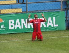 Ramiro Rocca es el actual goleador del Torneo Apertura 2020, con 20 anotaciones. (Foto Prensa Libre: Hemeroteca)