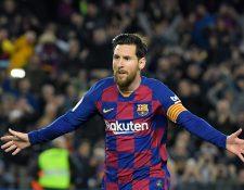 Lionel Messi ha anunciado que se quedará en el Barcelona. (Foto Prensa Libre: AFP)