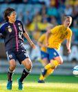 Yuki Nagasato, campeona del mundo en 2011 con Japón,, jugará en el equipo masculino Hayabusa eleven. (Foto Prensa Libre: AFP)