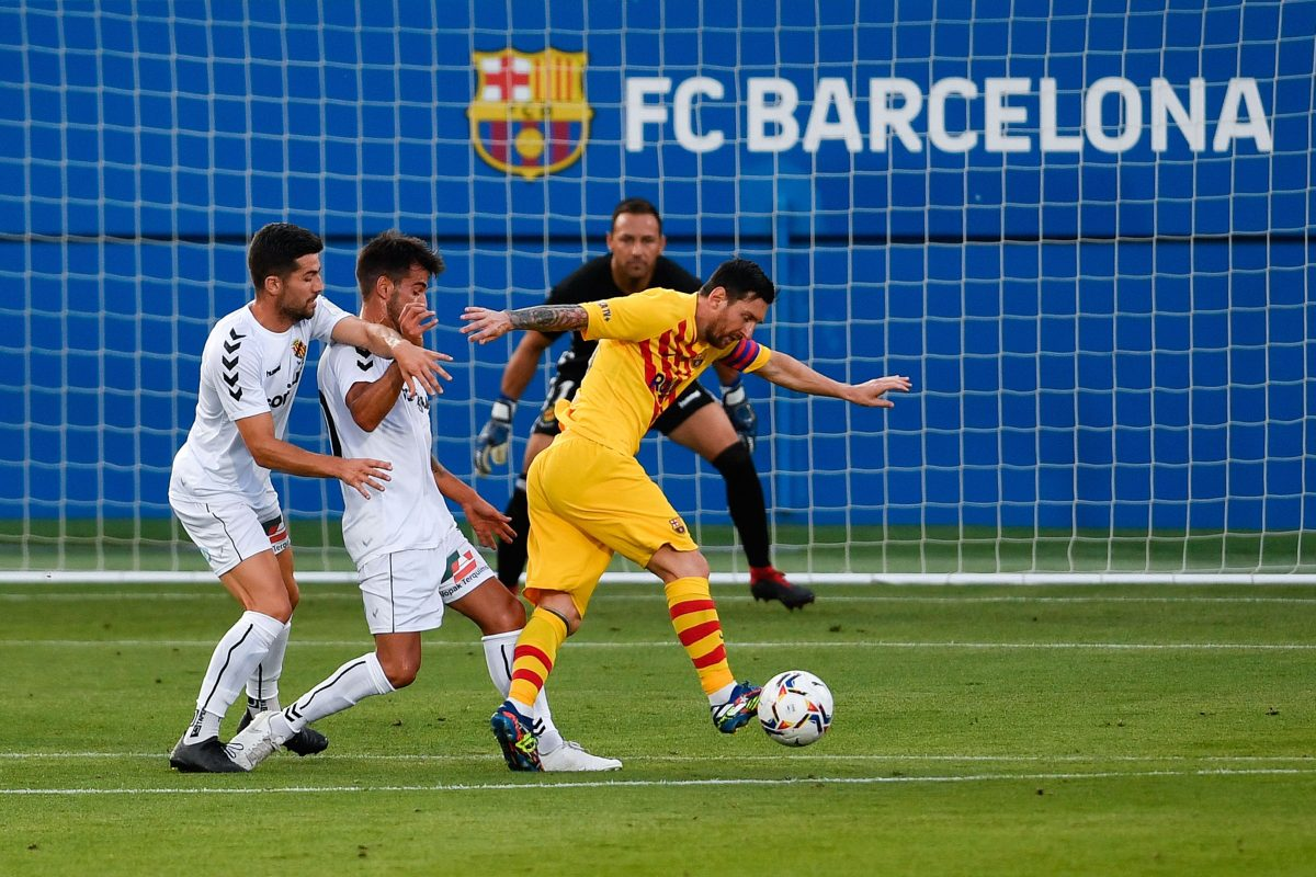 Messi es titular en el triunfo del Barcelona contra el modesto Nastic