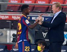 Ansu Fati ha conquistado el corazón de los barcelonistas. (Foto Prensa Libre: AFP)