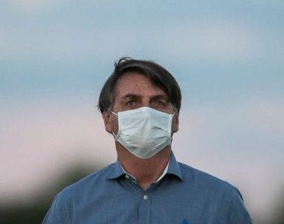 El presidente Bolsonaro anunció el martes 07 de julio que dio positivo por COVID-19 después de presentar síntomas. Foto de Bruna Prado / Getty Images