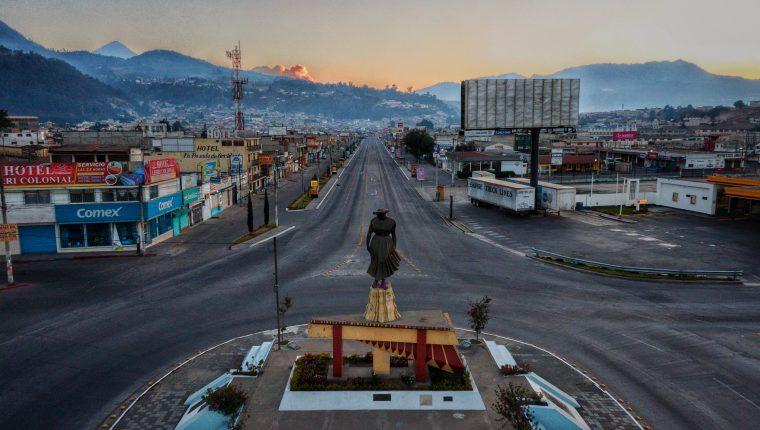 Monumento a La Marimba, en Quetzaltenango. (Foto Prensa Libre cortesía: Arturo Castillo)