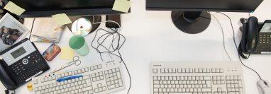 ¿Dónde había quedado el anotador?Los expertos del orden recomiendan mantener el lugar de trabajo vacío. Foto Prensa Libre: DPA