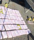 Droga decomisada en Los Amates, Izabal. (Foto Prensa Libre: PNC)