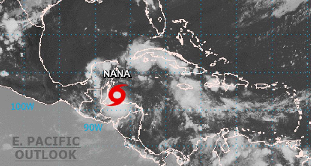 Nana se convierte en huracán y sigue su ruta hacia Belice y Guatemala
