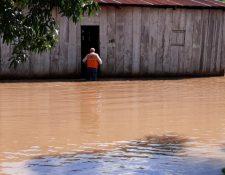Inundaciones en La Libertad, Petén. (Foto: Conred)