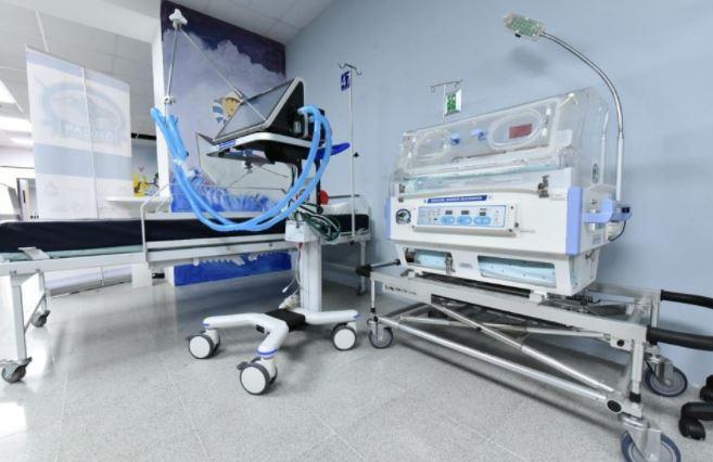 Una de las áreas de atención del Hospital de Santa Lucía Cotzumalguapa, cuya obra fue gestionada por el Centro de Gobierno. (Foto Prensa Libre: Cortesía Presidencia)