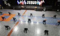 Iglesia evangélica El Shaddai de Villa Nueva reiniciará actividades. (Foto Prensa Libre: Miriam Figueroa)
