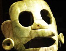 La máscara fue confiscada en Bruselas. (Foto Prensa Libre: Gobierno de Guatemala)