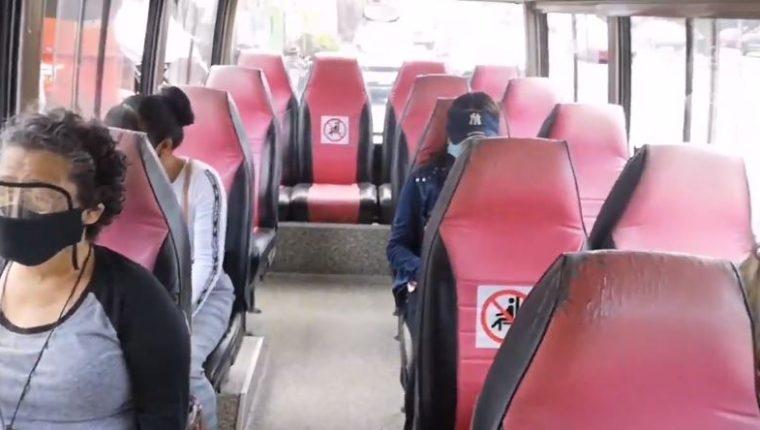 Comienzan los ensayos en Mixco en el servicio de microbuses. (Foto Prensa Libre: Comuna de Mixco)