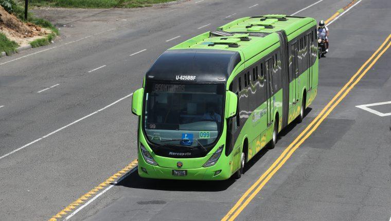 Transmetro de la ciudad de Guatemala. (Foto Prensa Libre: HemerotecaPL)