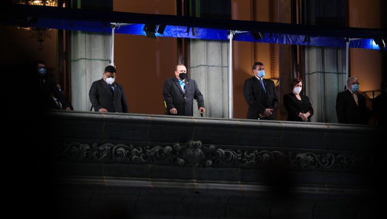Los últimos actos oficiales de Alejandro Giammattei fueron con motivo del día de la Independencia. (Foto Prensa Libre: Hemeroteca PL)