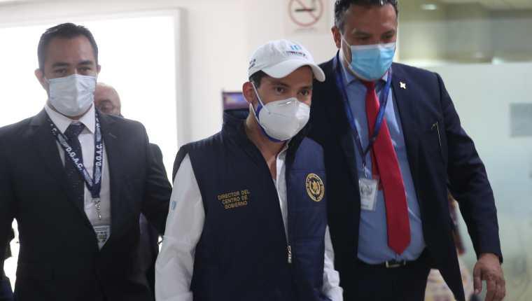 Miguel Martínez, titular del Centro de Gobierno, participó en el acto de reapertura del aeropuerto internacional La Aurora, el pasado 18 de septiembre: Fotografía: Prensa Libre.