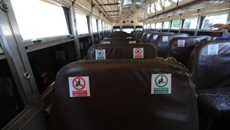 Los departamentos donde ya comienzan a funcionar los buses la poca cantidad de inspecciones impiden velar por el cumplimiento de los protocolos de bioseguridad. Fotografía: Prensa Libre.