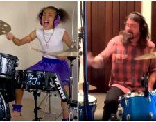 Nandi Bushell es una pequeña de 10 años amante de la música. (Foto Prensa Libre: Twitter)