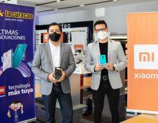 La Curacao presentó la nueva línea de Smartphone de la marca Xiaomi. Foto Prensa Libre: Cortesía.
