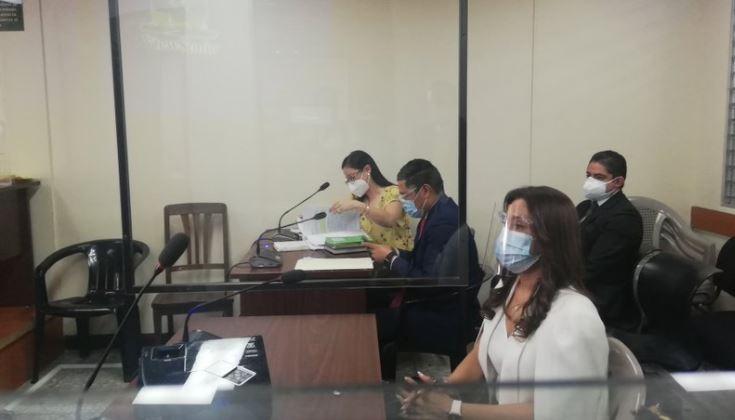 Patricia de Morales en su audiencia por investigación en su contra. (Foto Prensa Libre: Edwin Pitán)