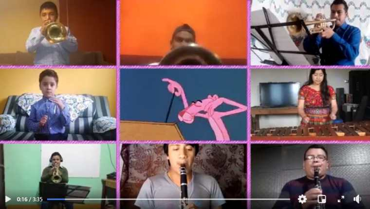 En el video los artistas demuestran su talento en la ejecución de varios instrumentos musicales. (Foto Prensa Libre: Tomada de video)