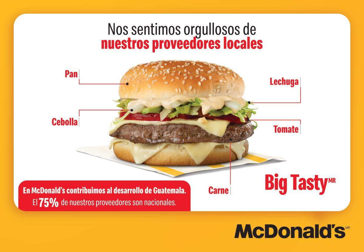 McDonald´s contribuye al desarrollo del país, al tener el 75 por ciento de proveedores guatemaltecos