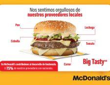 McDonald´s mantiene el 75 por ciento de sus proveedores de origen guatemalteco. Foto Prensa Libre: Cortesía.