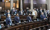 Por falta de quórum no fue posible avanzar en el tramite de las iniciativas de ley programadas para este jueves. Fotografía: Congreso.