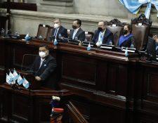 Según la UNE, Giammattei busca la reelección de Allan Rodríguez como presidente del Congreso para 2021. (Foto Prensa Libre: Hemeroteca PL)