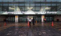Desolaci—n en el Aeropuerto Internacional la Aurora, desde el d'a de ayer fueron suspendidos los vuelos para evitar el CORONAVIRUS.   Fotograf'a. Erick Avila:  19032020