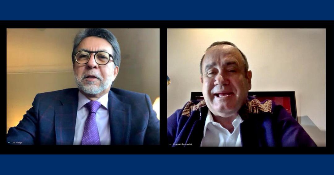 """""""Amigo y buen consejero"""": Giammattei se despide de Luis Arreaga, embajador saliente de Estados Unidos"""