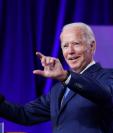 El candidato presidencial, Joe Biden, durante un evento de campaña en Wilmington, Delaware.