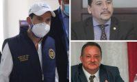 Miguel Martínez, Óscar Dávila y Luis Ruano son los jefes de las tres comisiones creadas por el presidente Alejandro Giammattei. (Foto Prensa Libre)