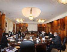CSJ en sesión plenaria este 30 de septiembre. (Foto Prensa Libre: OJ)