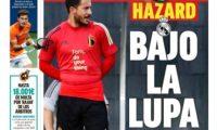 El diario español Marca publicó en portada a Eden Hazard. (Foto Prensa Libre: Twitter Diario Marca)