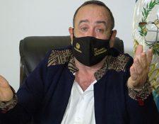 Presidente Alejandro Giammattei en mensaje a la población luego de dar positivo a coronavirus. (Foto Prensa Libre)