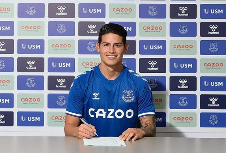 James Rodríguez bailó samba y cantó en portugués, previo a su debut con el Everton en la Premier League