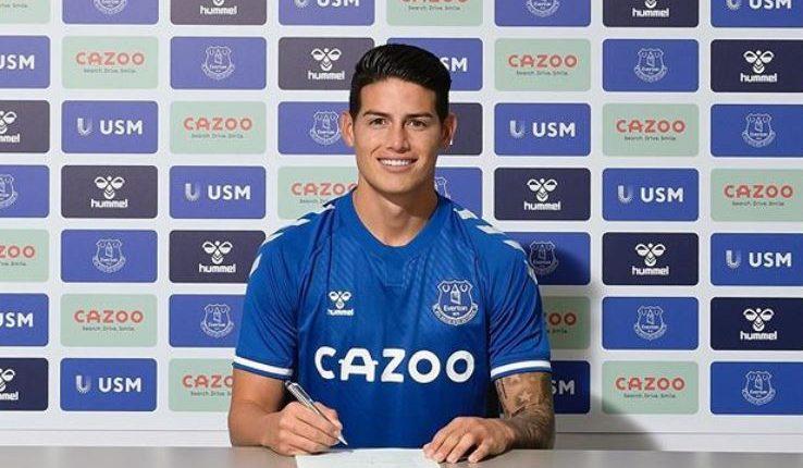 James Rodríguez debuta con victoria en el Everton. (Foto Prensa Libre: Instagram)