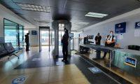 Zona de escáner en el Aeropuerto Internacional La Auorora. (Foto Prensa Libre: Fernando Cabrera)