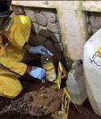 Las autoridades descubrieron el laboratorio, mientras allanaban la propiedad. Foto Prensa Libre: MP.