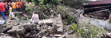 Una de las viviendas dañadas en Suchitepéquez, por la lluvia. (Foto Prensa Libre: Conred)