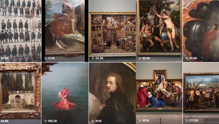 La cuenta de TikTok del Museo del Prado enamora al mundo. (Foto Prensa Libre: TikTok)